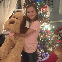 Leah with Stuffed Animal